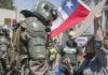 La poblacion chilena denuncia represión militar en protestas